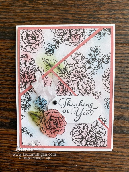 True Love Designer Series Paper from Stampin' Up! Card by Laura Milligan, I'd Ratehr Bee Stampin