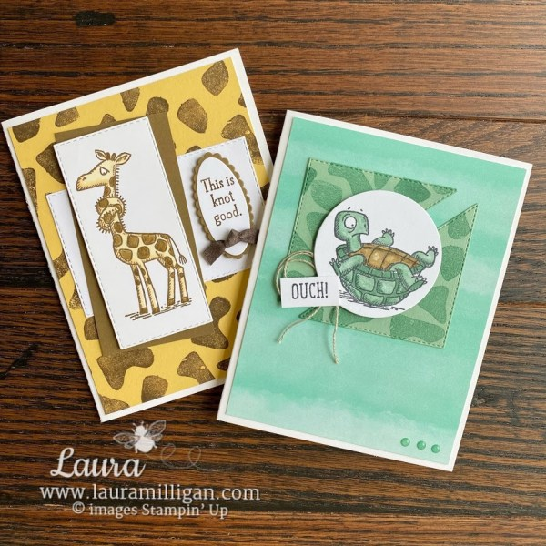 Back On Your Feet Stamp Set by Laura Milligan Stampin' Up ! Get Well Card