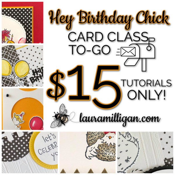 Card Class To Go Hey Birthday Chick Tutorials