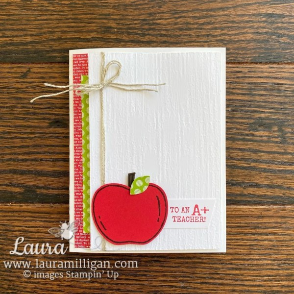 Create a cute card for a teacher Apple Builder Punch Retiring on Sale by Laura Milligan