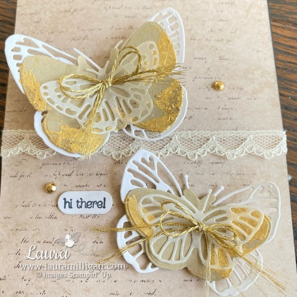 butterfly brilliance card with gilded leafing created by Laura Milligan Stampin' Up! demonstrator