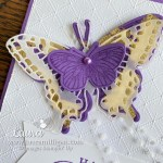 create a beautiful gilded leafing butterfly by Laura Milligan stampin