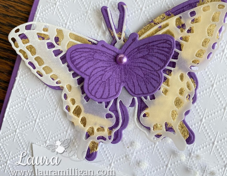 Butterfly Brilliance Meets Gorgeous Grape!