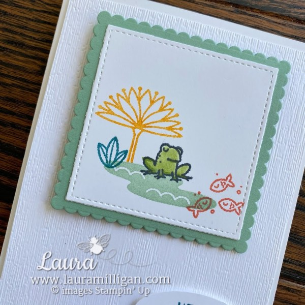 create a card with Oh Snap stamp set by Stampin' Up! Laura Milligan demonstrator