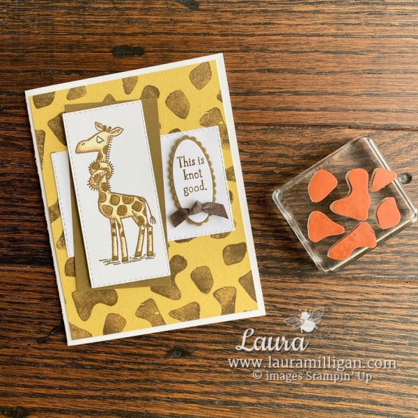 create this get well card with a giraffe by Stampin' Up! Laura Milligan earn free product