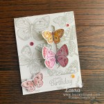 Create this Butterfly Brilliance Card Butterly Bijou Paper Laura Milligan Stampin