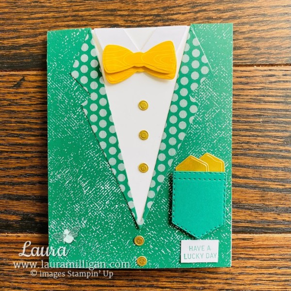 st patricks day card by laura milligan demonstrator I'd Rather Bee Stampin' Earn Free Product