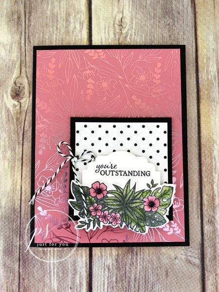 Friendly Flamingo Card Laura Milligan Id Rather Bee Stampin