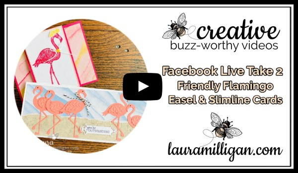 Laura Milligan YouTube Thumbnail - Friendly Flamingo Facebook Live Take Two