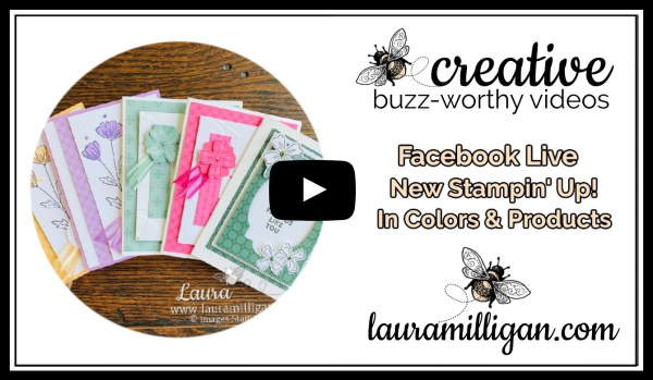 Laura Milligan YouTube Thumbnail - In Color and New Products Facebook Live