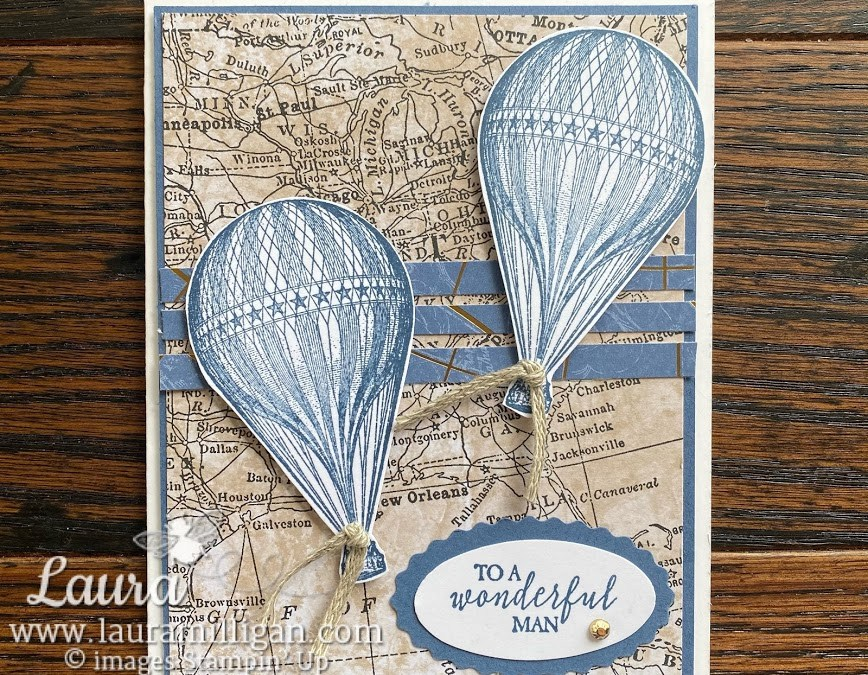 Vintage Feel Masculine Cards with Soar Confidently Facebook Live!