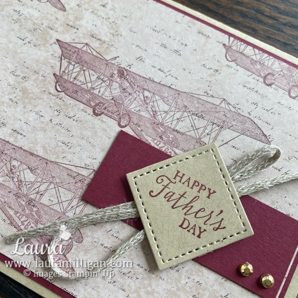 soar confidently by Stampin' Up! Laura Milligan Demonstrator Masculine Hand Stamped Card