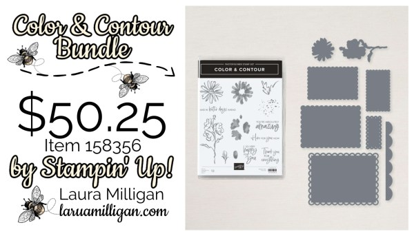 Color & Contour Bundle by Stampin' Up! Cards by Laura Milligan Id Rather Bee Stampin