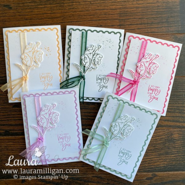 Create these cards using the New 2021-2023 In Colors and color and contour bundle stampin' up! Laura Milligan