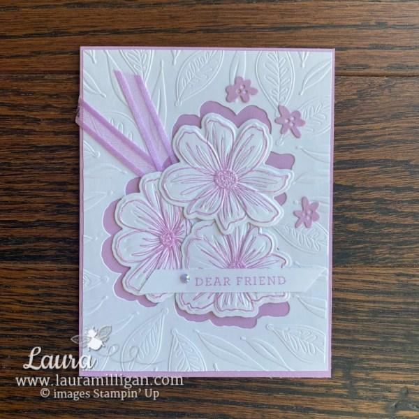 Art in Bloom Bundle Hybrid Embossing Folder card by Laura Milligan Stampin' Up! demonstrator