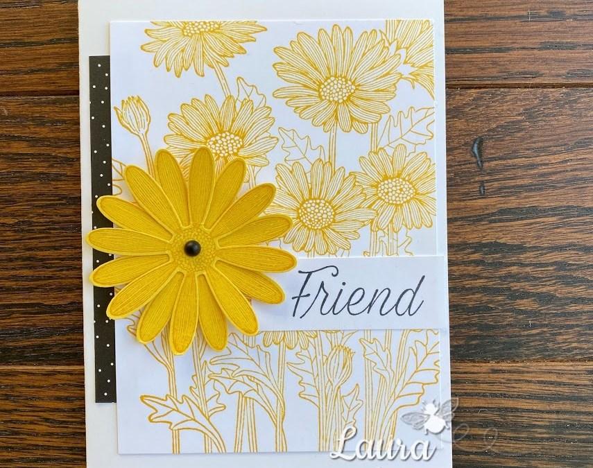 Bee Creative Tutorial – Daisy Garden Hello Card