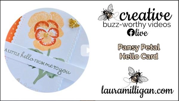 Laura Milligan YouTube Thumbnail - Pansy Petal Hello Card