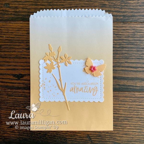 Pale Papaya Ombre Bag by Stampin' Up! Laura Milligan demonstrator Paper Crafting Ideas