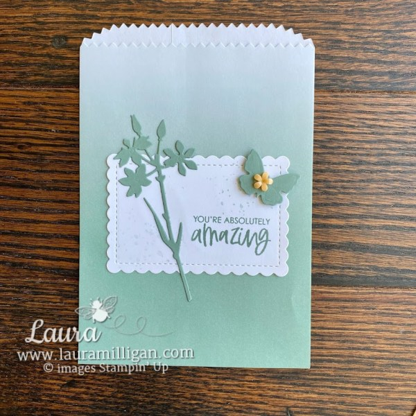 Soft Succulent In Color Stampin' Up! Gift Bag Laura Milligan Demonstrator Earn Free Product