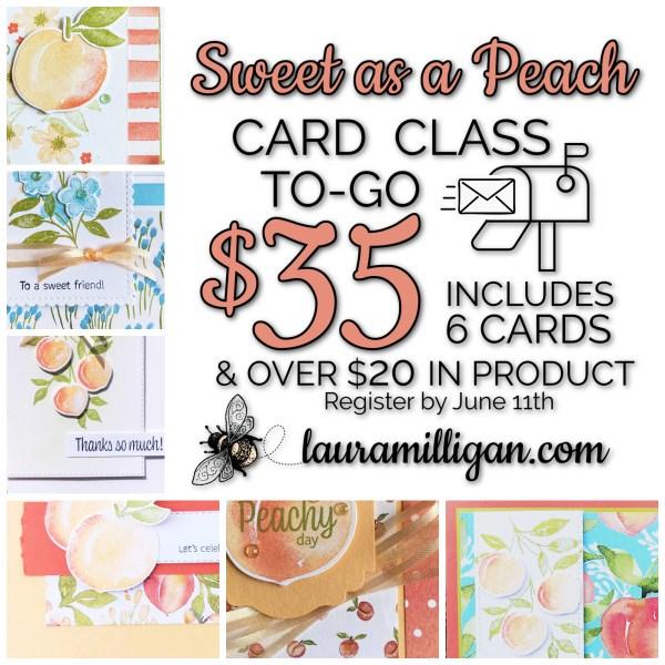 Sweet as a Peach Card Class to Go