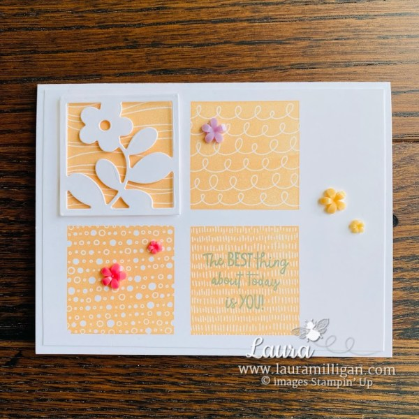 all squared away bundle handmade card Laura Milligan Stampin' Up! Earn Free Product