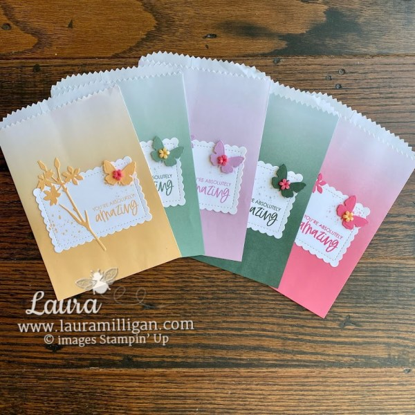 in color club project by Laura Milligan Stampin' Up! demonstrator Ombre bags