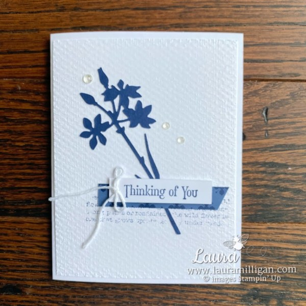 quiet meadow thinking of you card by Laura Milligan Stampin' Up!