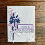 thinking of you card Quiet Meadow by Laura Milligan Stampin