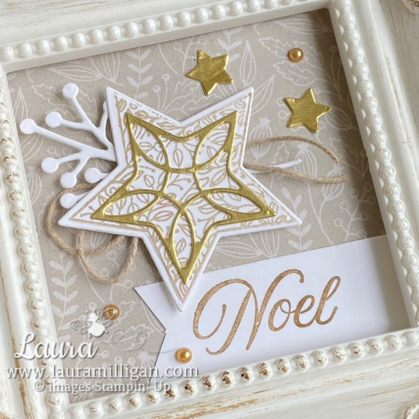 Mini Noel Christmas Framed Project by Laura Milligan Tidings & Trimmings Bundle Stampin' Up!