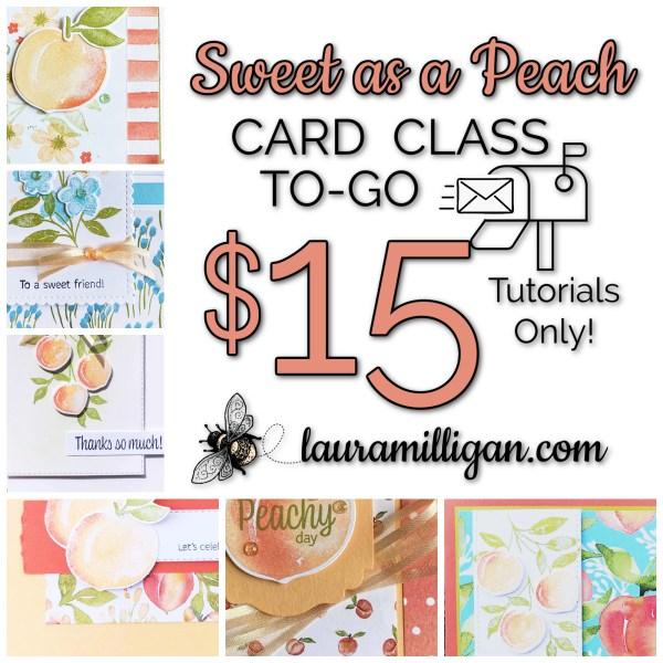 Sweet as a Peach Card Class to Go Tutorials Only