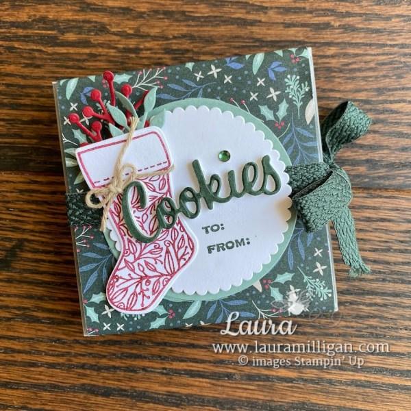 cookie box tidings and trimmings bundle dsp sale Laura Milligan Stampin' Up! demonstrator
