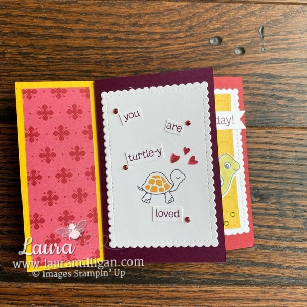 how to make a tower pinwheel card Laura Milligan Turtle Friends Stampin' Up! Bundle & Save