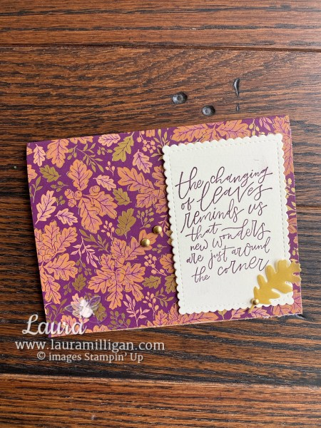 Blackberry Beauty Suite by Stampin' Up! Card by Laura Millgian Facebook Live Tutorial
