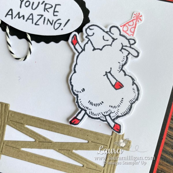 Counting Sheep Stamp Set and Sheep Dies Free SAB Closeup