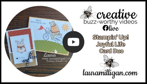 Laura Milligan YouTube Thumbnail Joyful Life Card Duo