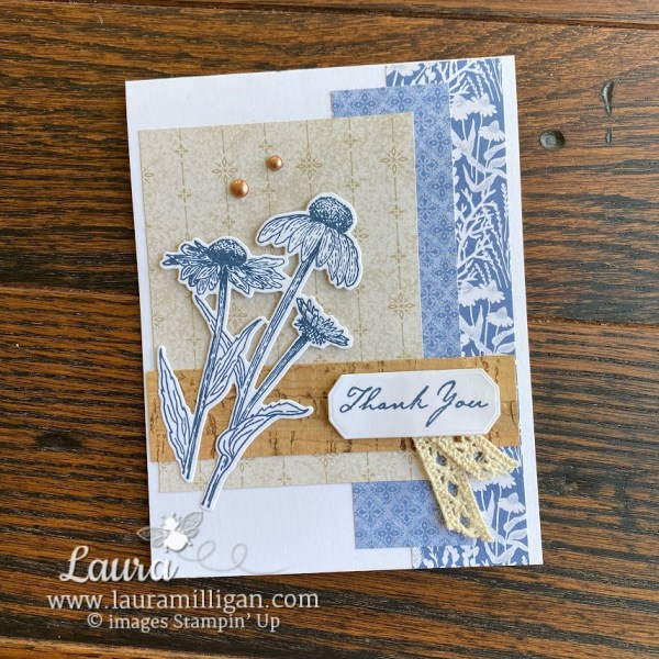 harvest meadow hand stamped card by Laura Milligan Stampin' Up! demonstrator