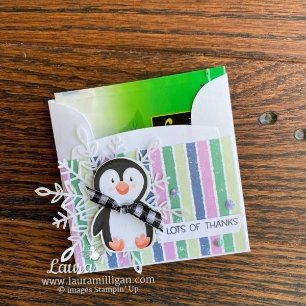 penguin place tea bag holder Stampin' Up! Laura Milligan