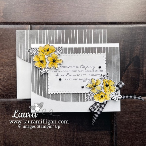 In Your Words Sale-a-Bration Stamp Set by Stampin' Up! Beautifully Penned DSP Laura Milligan