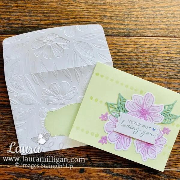 Ways to Dress Up Your Envelope - Laura Milligan, Demonstrator Stampin' Up! Emboss Envelope