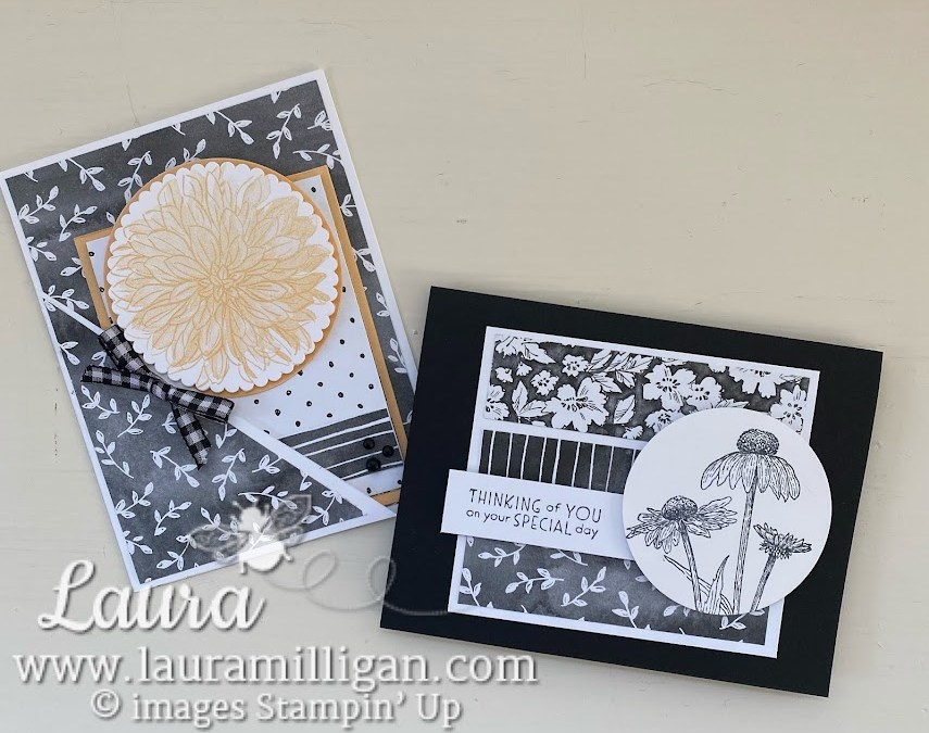 Fun Fold Pocket Card with Stampin' Up! Beautifully Penned DSP