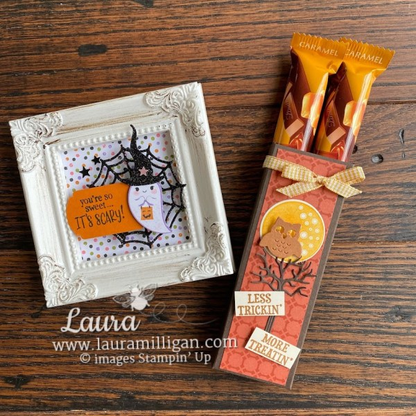 create these fun halloween projects by Laura Milligan Stampin' Up! Frightfully Fun Earn Free Product