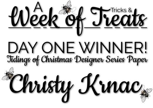 A Week of Tricks & Treats DAY ONE WINNER