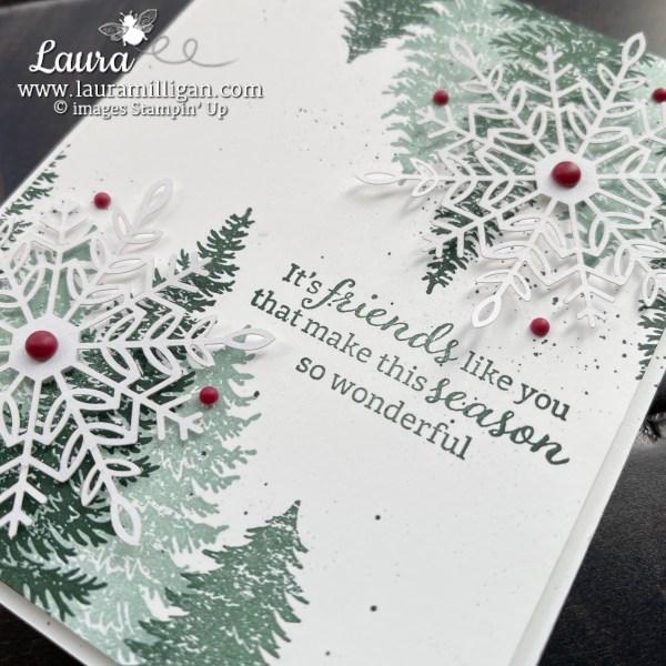 Holiday Card using Evening Elegance Bundle from Stampin' Up! Laura Milligan www.lauramilligan.com