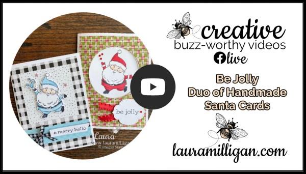 Laura Milligan YouTube Thumbnail Be Jolly Card Duo