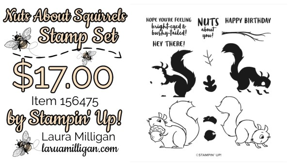 Nuts About Squirrels Stamp Set From Stampin' Up! 156475 Cards by Laura Milligan Id Rather Bee Stampin