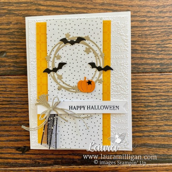 create this halloween card with the Sparkle of the Season Bundle by Laura Milligan Stampin' Up!