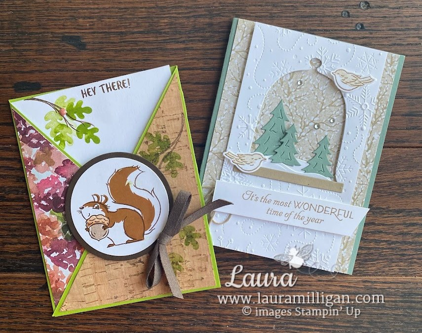 Nuts About Squirrels Friend Card and Classic Cloche!