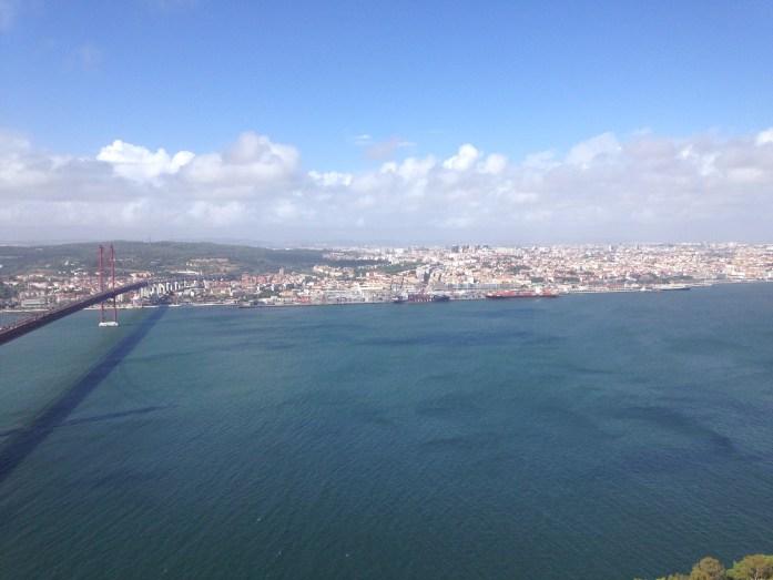 Vista desde el Cristo Rey de Lisboa