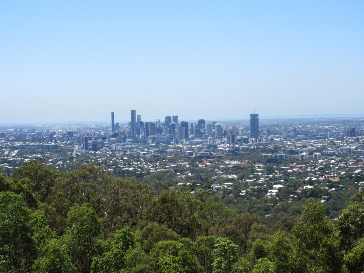 Brisbane's CBD (or central business district, it took me longer than it should have to figure that out) as viewed from Mount Coot-tha
