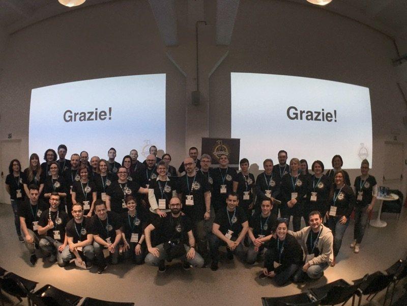 volontari e organizzatori del WordCamp Torino 2017